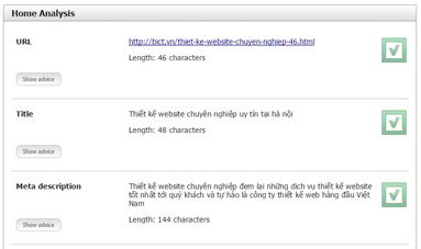 Kiểm tra website trong seo