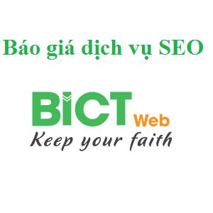 Bảng giá dịch vụ SEO website, SEO từ khóa tại BICTweb